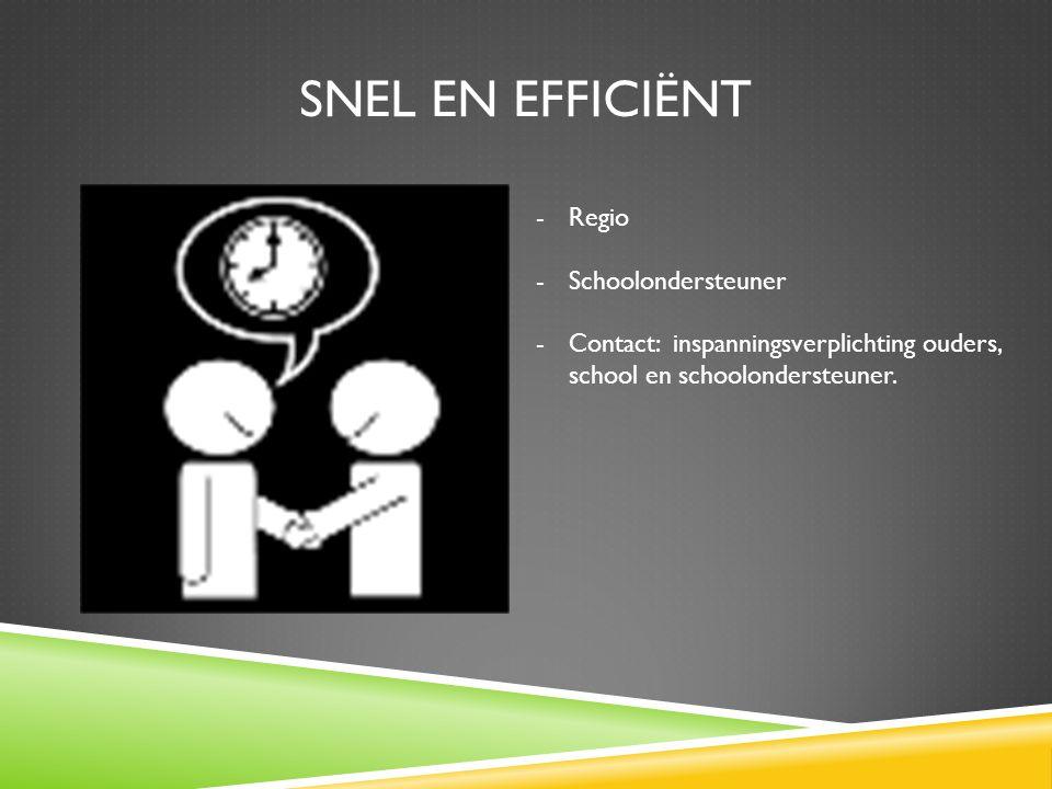 Snel en efficiënt Regio Schoolondersteuner
