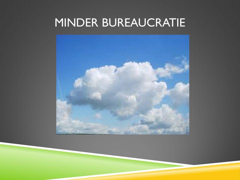 Minder bureaucratie