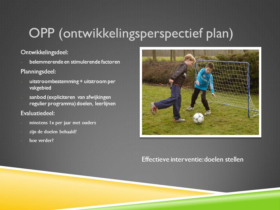 OPP (ontwikkelingsperspectief plan)
