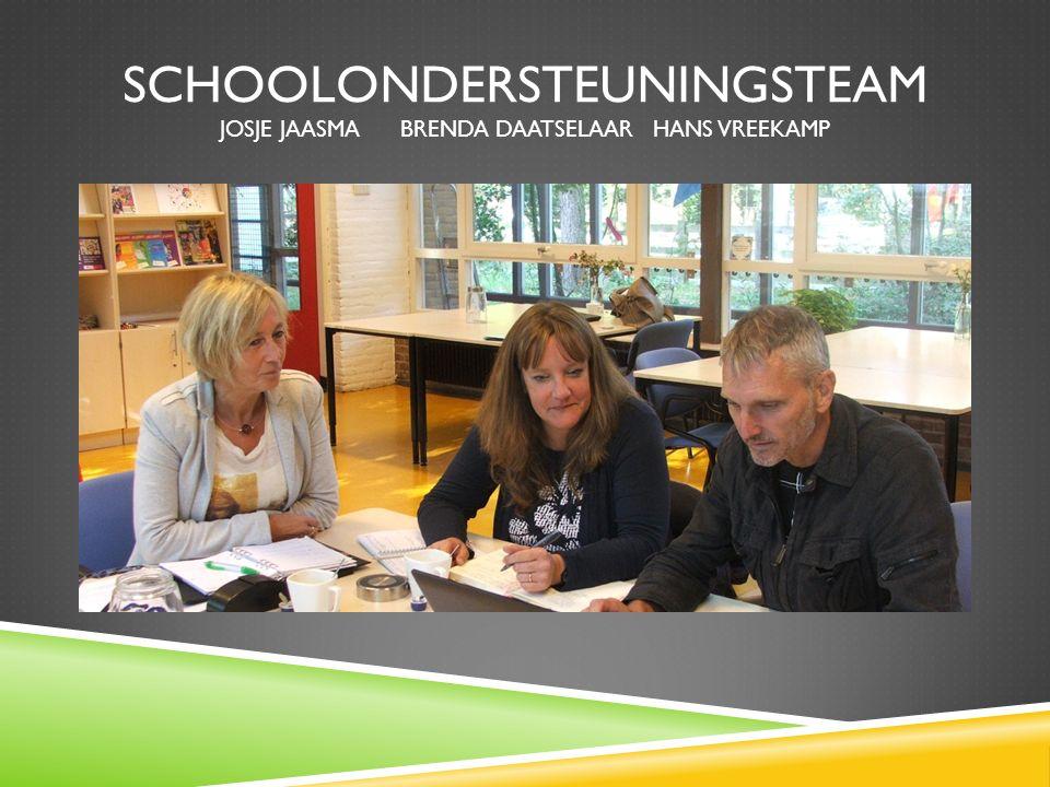 Schoolondersteuningsteam Josje Jaasma Brenda Daatselaar Hans Vreekamp