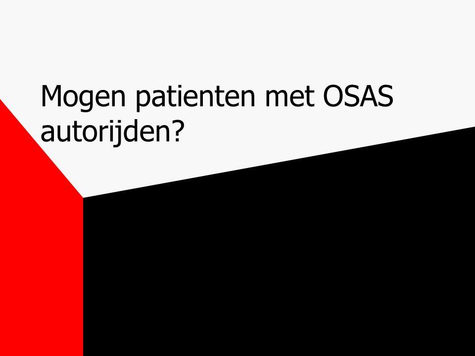 Mogen patienten met OSAS autorijden