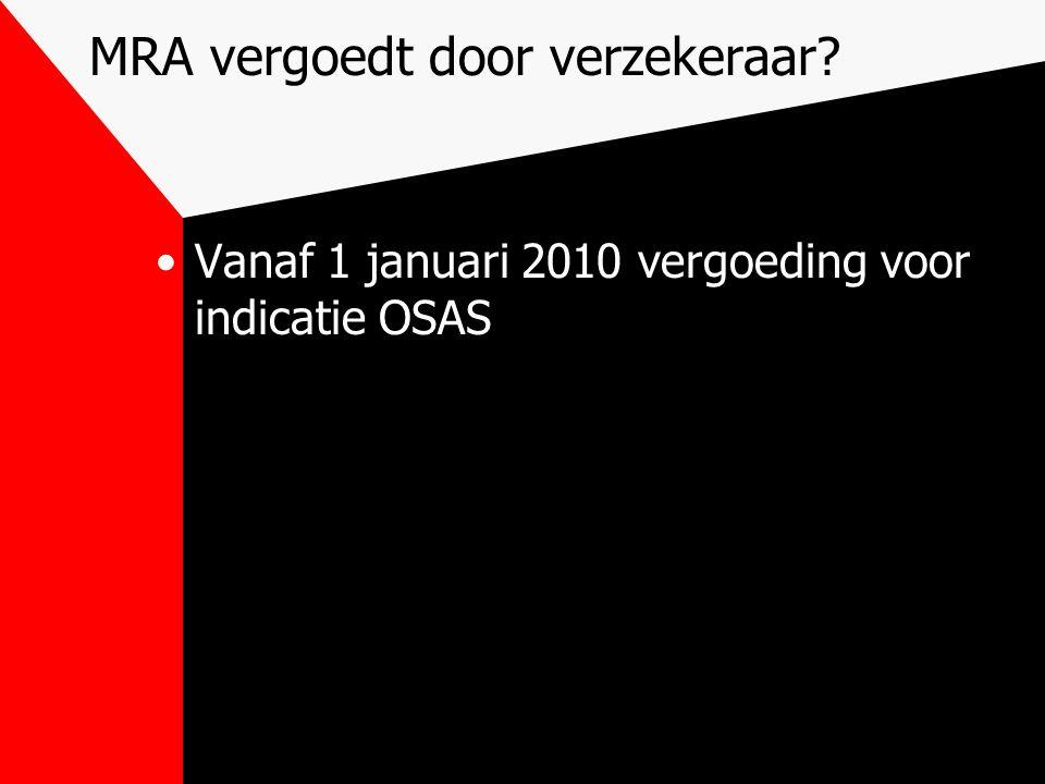 MRA vergoedt door verzekeraar
