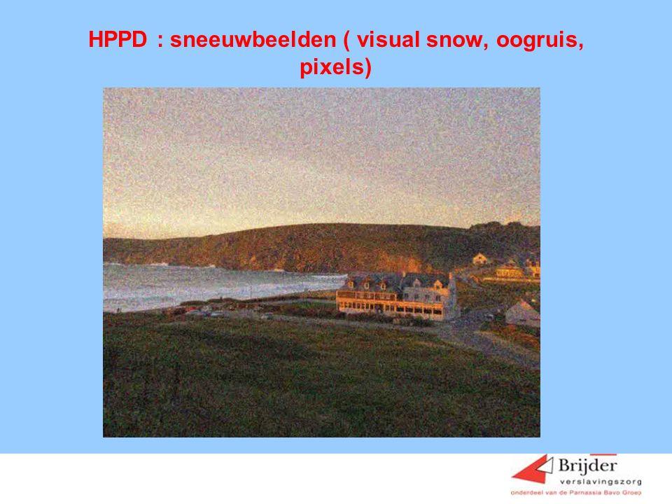 HPPD : sneeuwbeelden ( visual snow, oogruis, pixels)