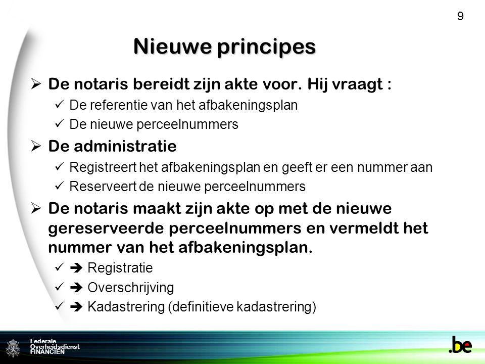 Nieuwe principes De notaris bereidt zijn akte voor. Hij vraagt :