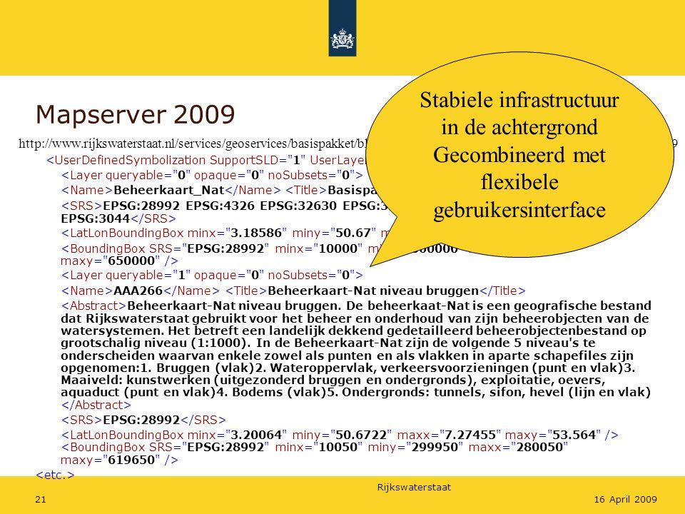 Mapserver 2009 Stabiele infrastructuur in de achtergrond