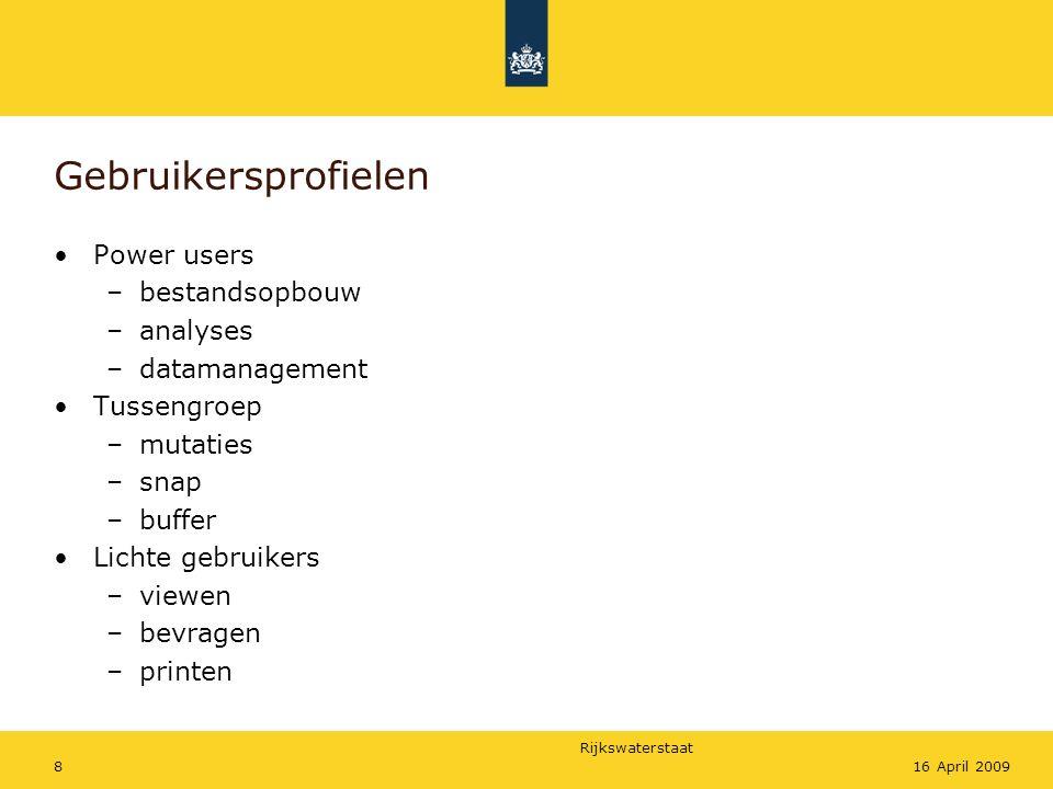 Gebruikersprofielen Power users bestandsopbouw analyses datamanagement