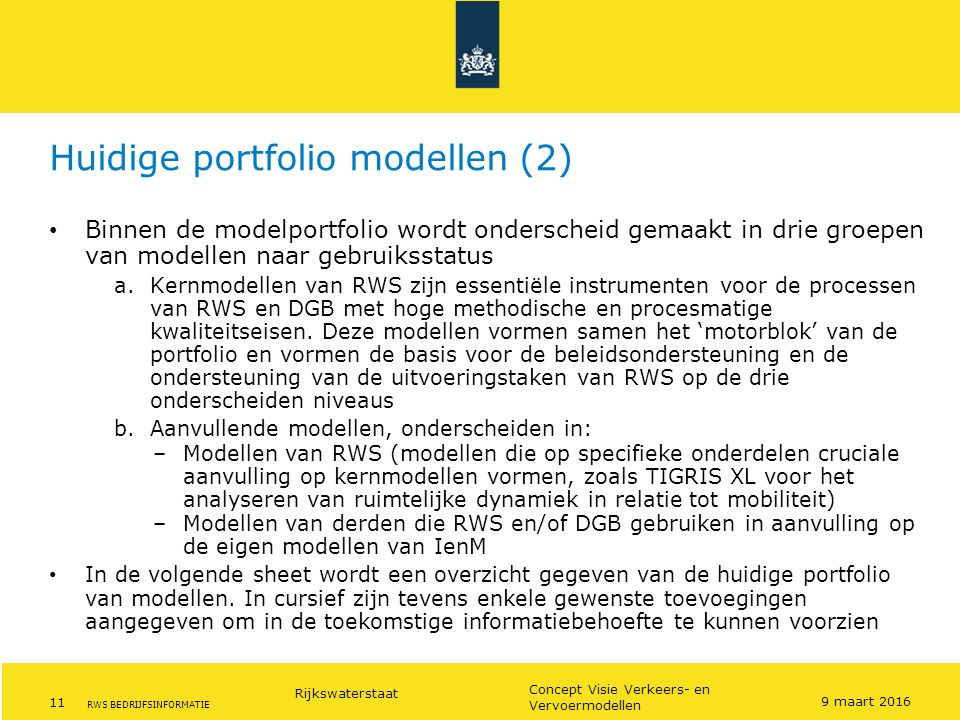 Huidige portfolio modellen (2)