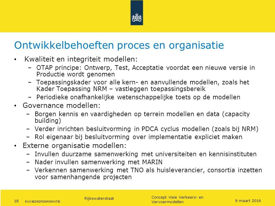 Ontwikkelbehoeften proces en organisatie