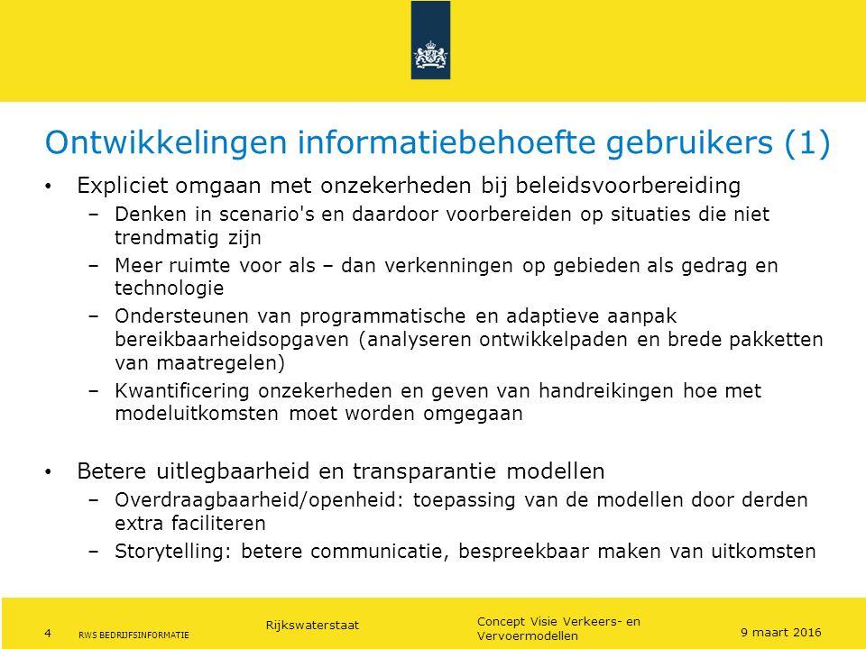 Ontwikkelingen informatiebehoefte gebruikers (1)