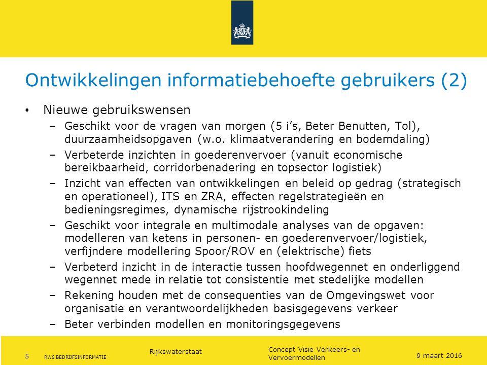 Ontwikkelingen informatiebehoefte gebruikers (2)