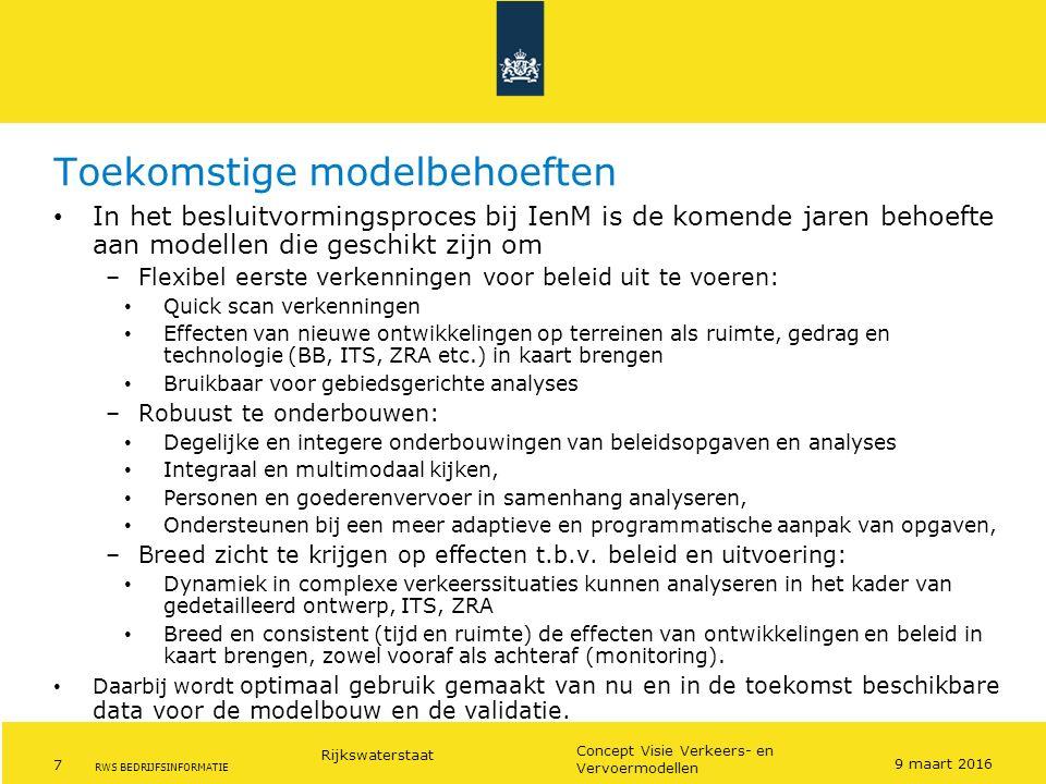 Toekomstige modelbehoeften