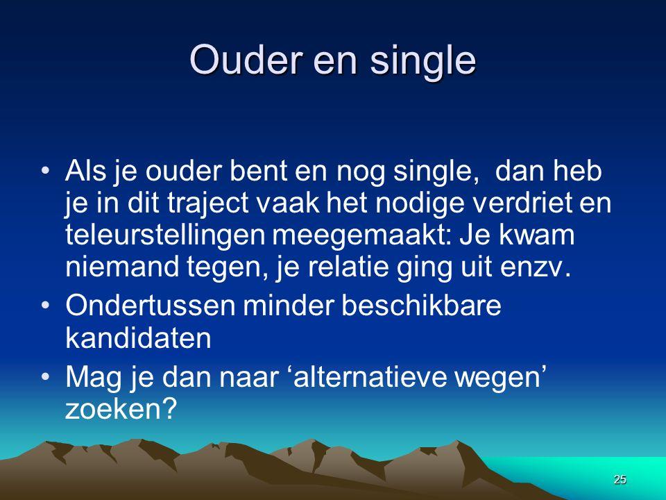 Ouder en single