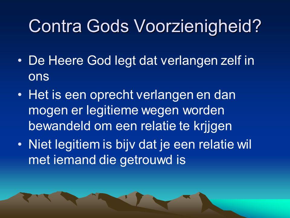 Contra Gods Voorzienigheid