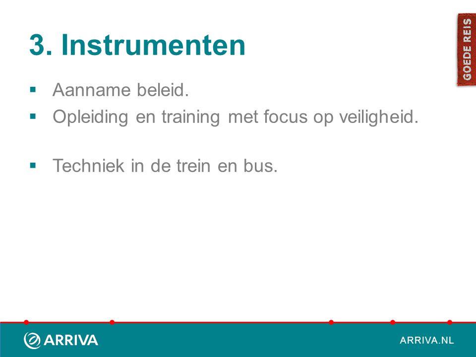 3. Instrumenten Aanname beleid.