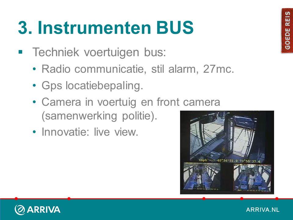 3. Instrumenten BUS Techniek voertuigen bus: