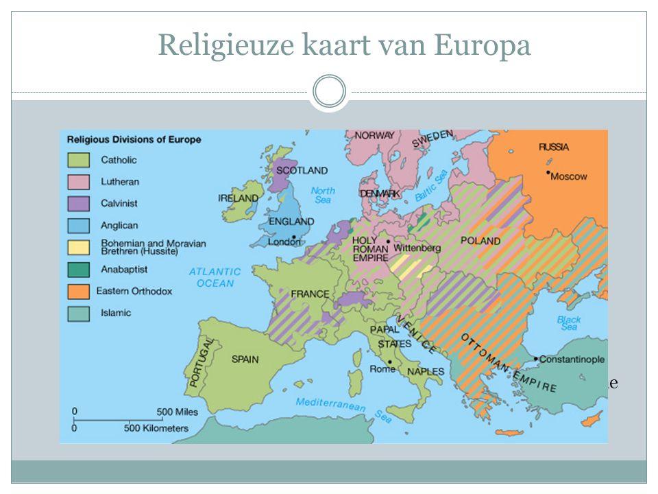 Religieuze kaart van Europa