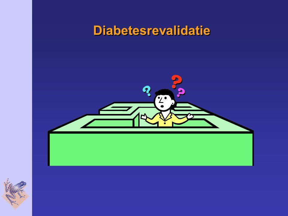Diabetesrevalidatie Ze komt na de intake door DVK en arts in ons groepsbehandelingsprogramma.