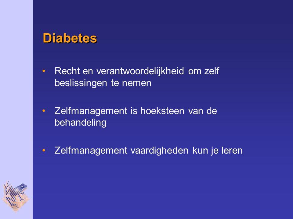 Diabetes Recht en verantwoordelijkheid om zelf beslissingen te nemen