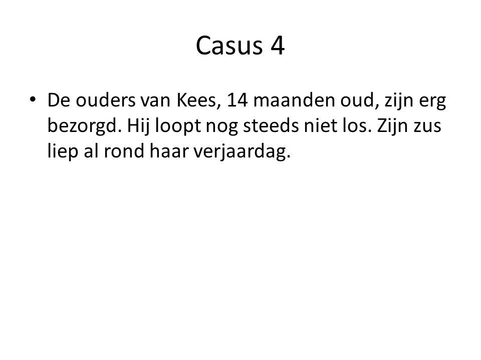 Casus 4 De ouders van Kees, 14 maanden oud, zijn erg bezorgd.