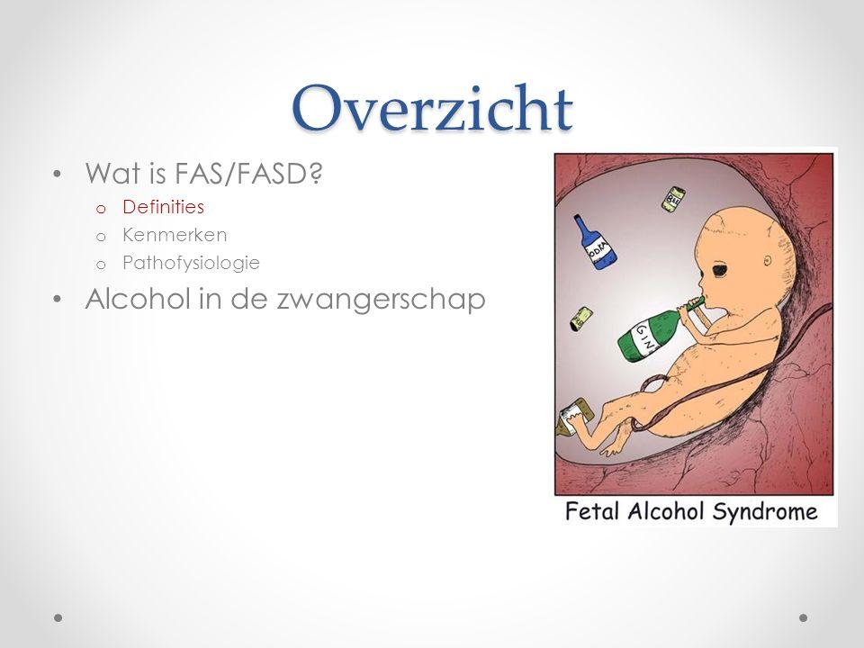 Overzicht Wat is FAS/FASD Alcohol in de zwangerschap Definities