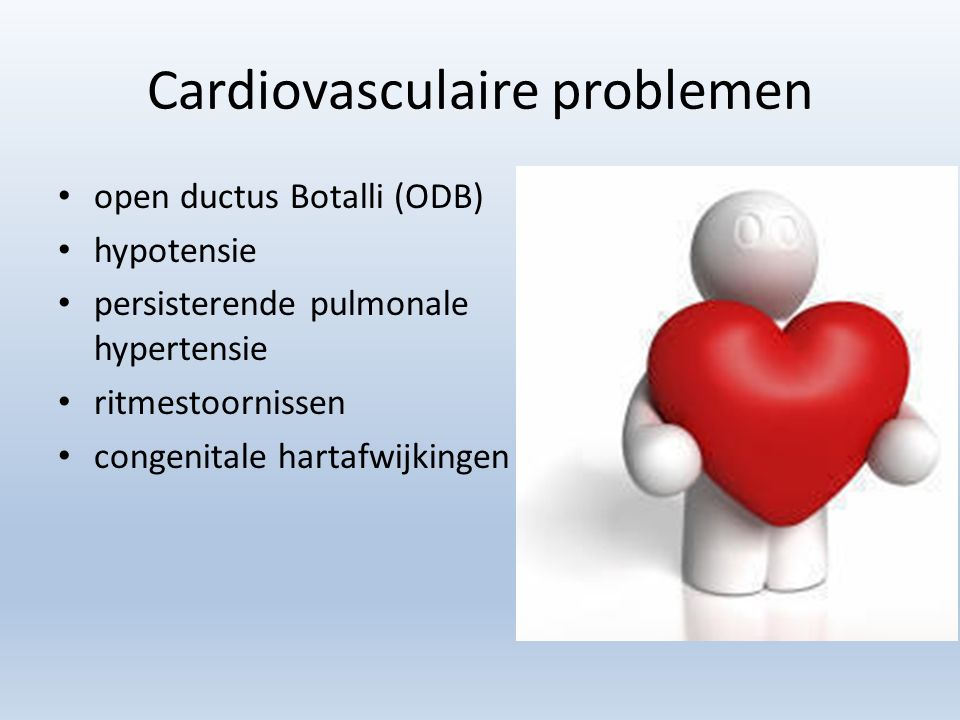 Cardiovasculaire problemen
