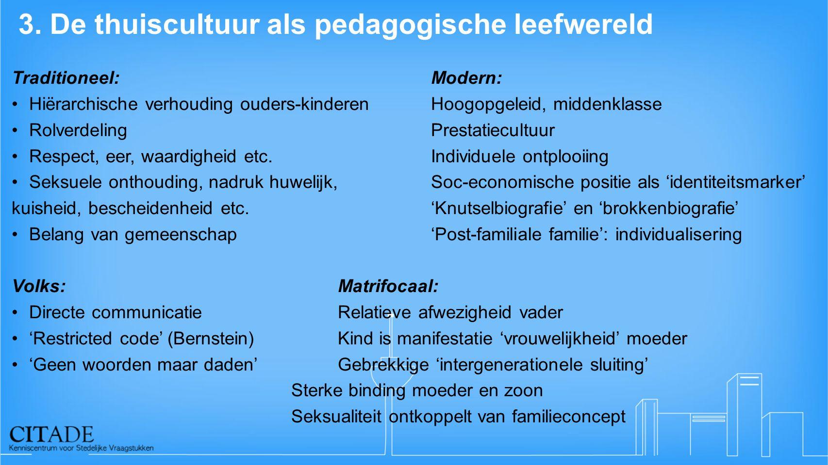 3. De thuiscultuur als pedagogische leefwereld