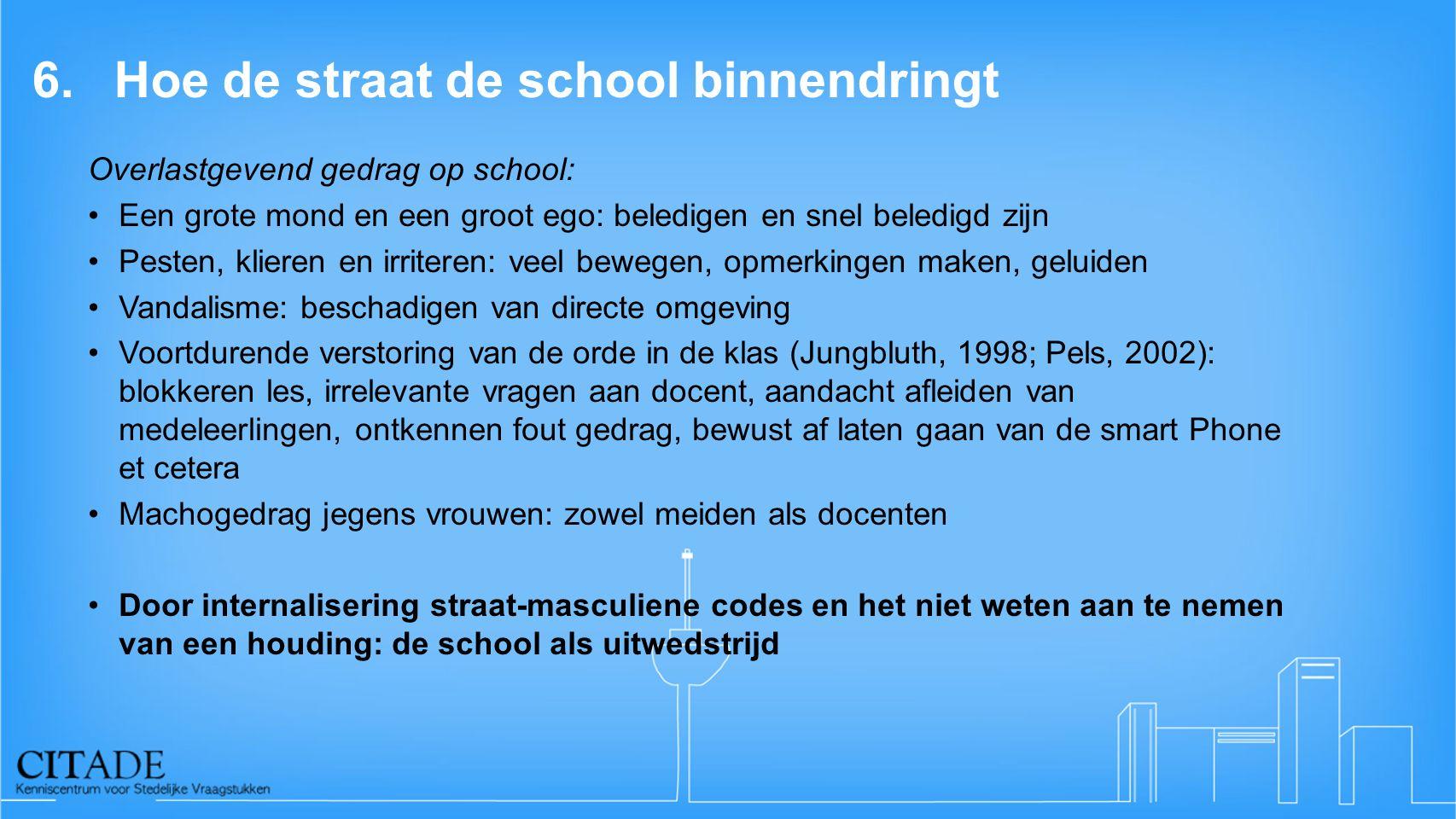 6. Hoe de straat de school binnendringt