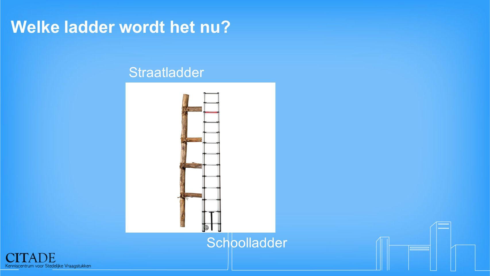 Welke ladder wordt het nu