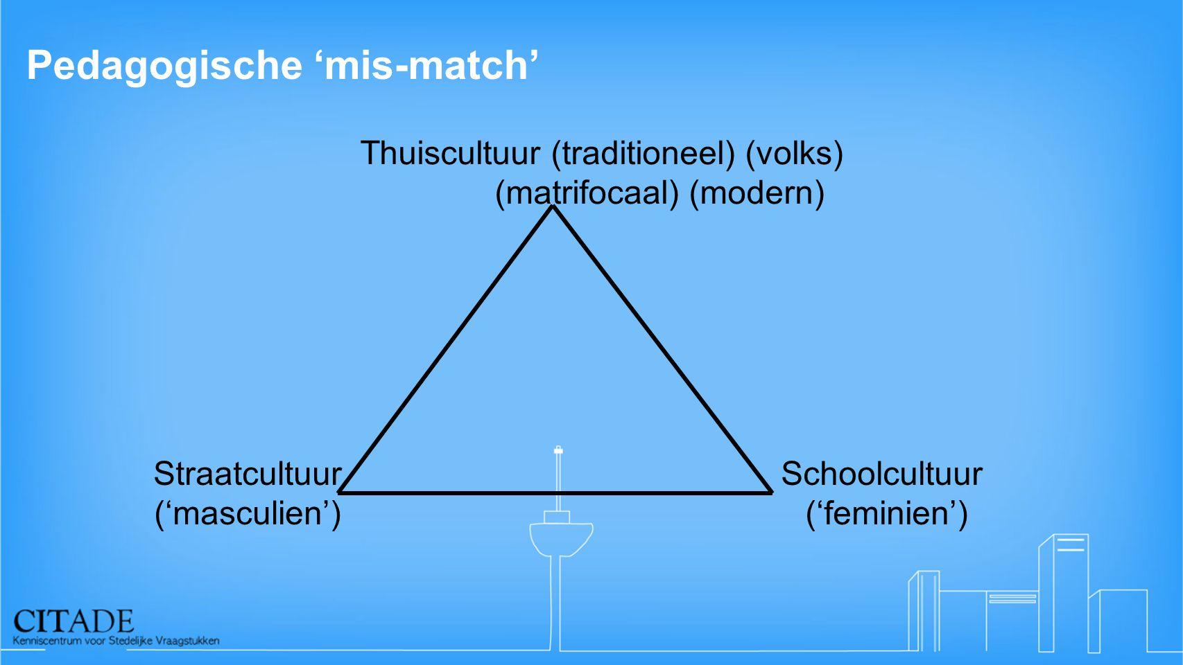 Pedagogische 'mis-match'