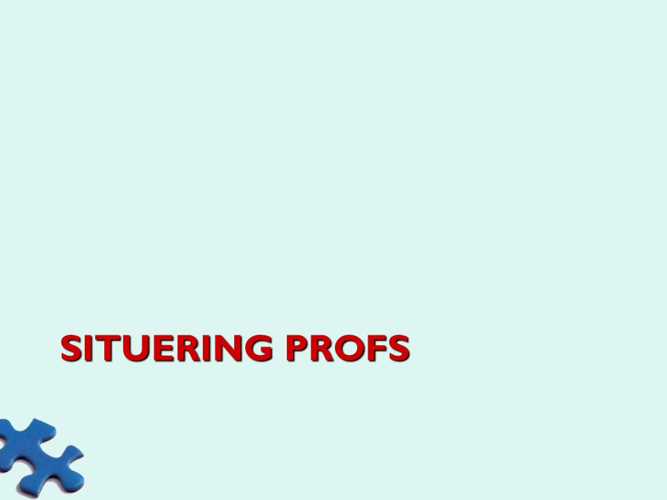 Situering profs