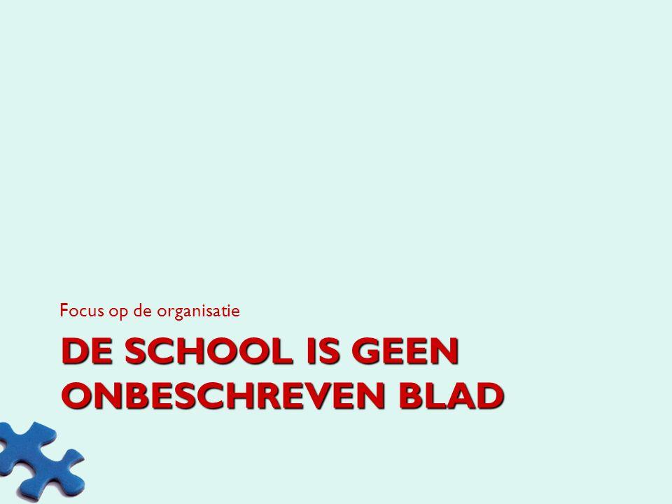 De school is geen onbeschreven blad
