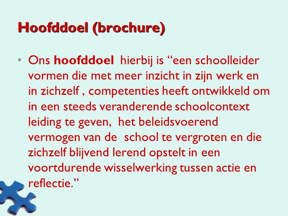 Hoofddoel (brochure)