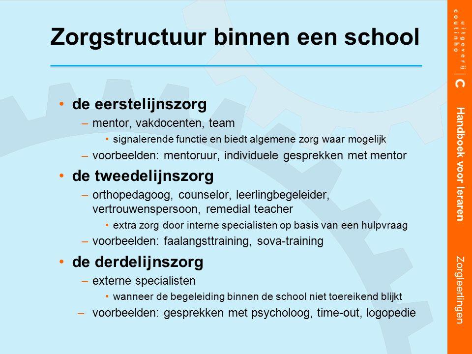 Zorgstructuur binnen een school