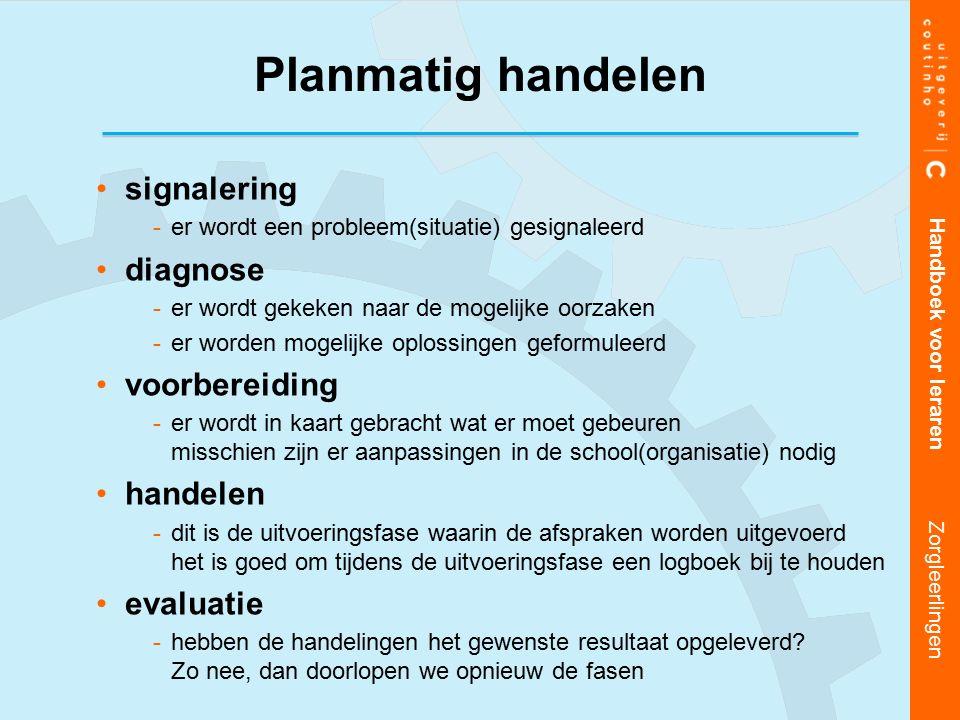 Planmatig handelen signalering diagnose voorbereiding handelen