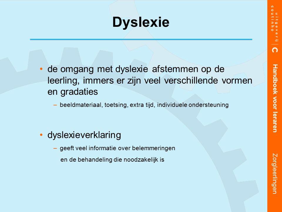 Dyslexie de omgang met dyslexie afstemmen op de leerling, immers er zijn veel verschillende vormen en gradaties.