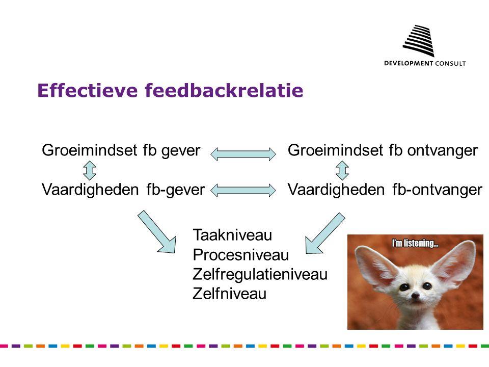 Effectieve feedbackrelatie