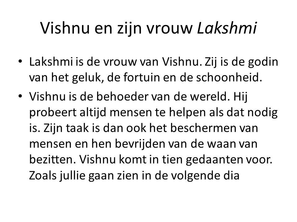 Vishnu en zijn vrouw Lakshmi