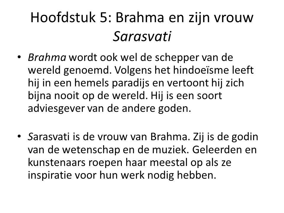 Hoofdstuk 5: Brahma en zijn vrouw Sarasvati