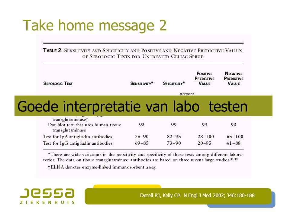 Goede interpretatie van labo testen