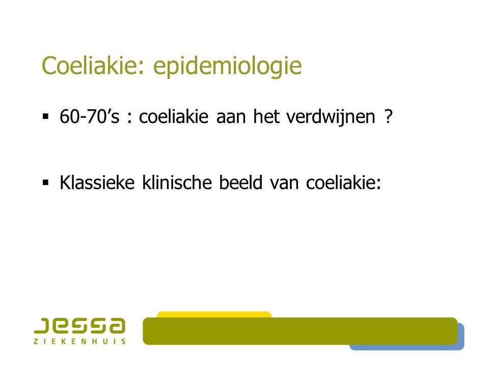 Coeliakie: epidemiologie