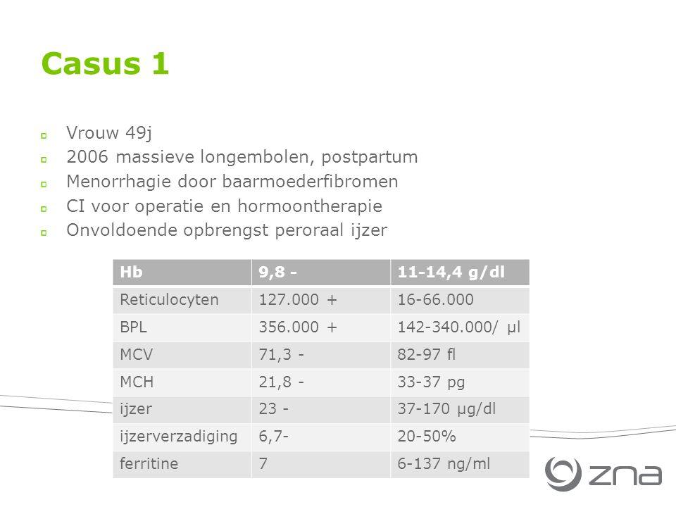 Casus 1 Vrouw 49j 2006 massieve longembolen, postpartum