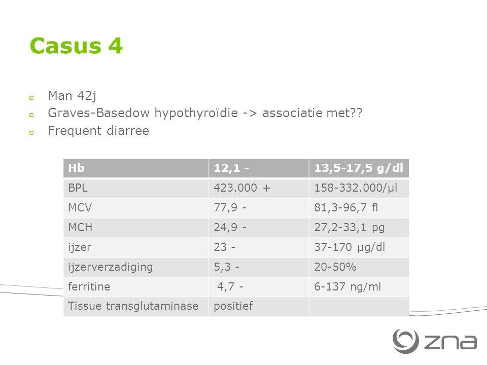 Casus 4 Man 42j Graves-Basedow hypothyroïdie -> associatie met