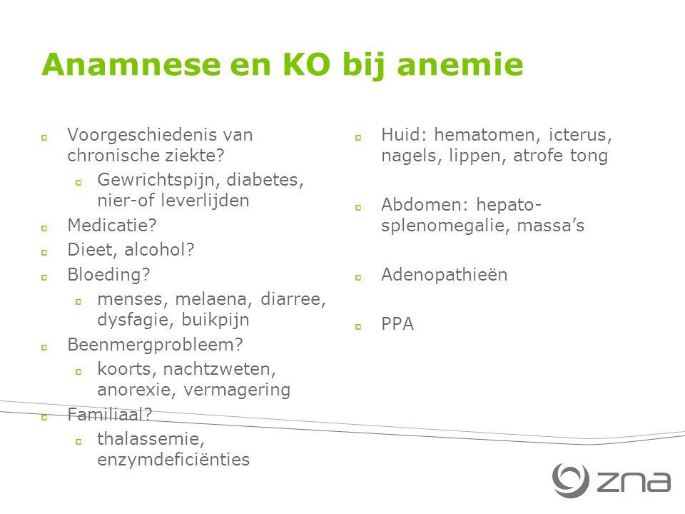 Anamnese en KO bij anemie