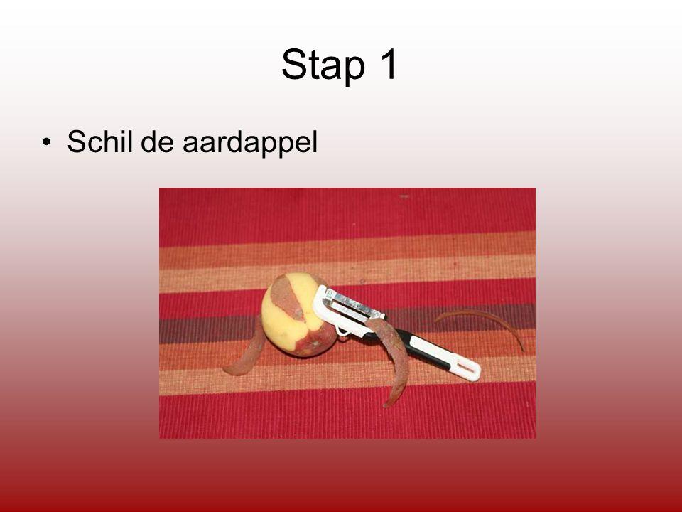 Stap 1 Schil de aardappel