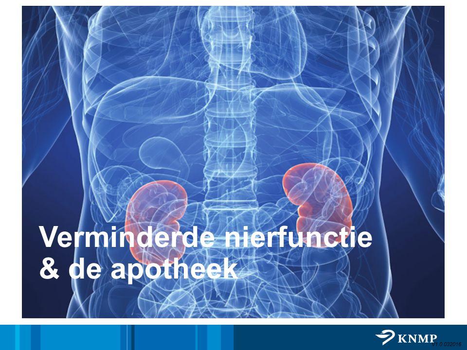 Verminderde nierfunctie & de apotheek
