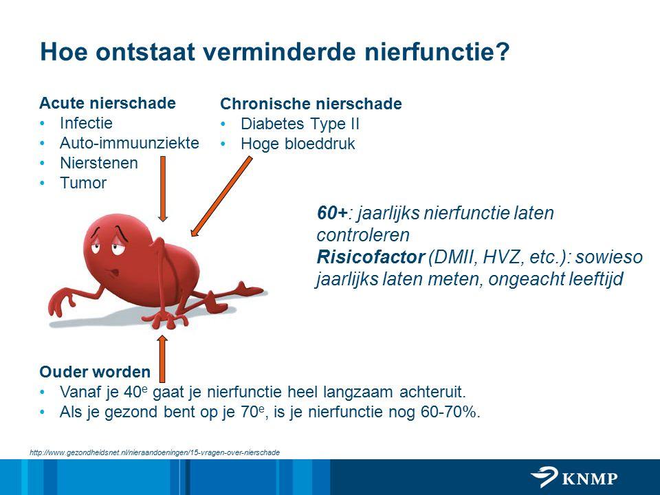 Hoe ontstaat verminderde nierfunctie