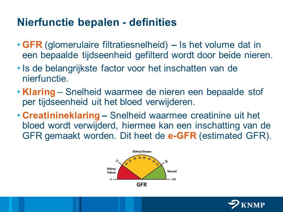 Nierfunctie bepalen - definities
