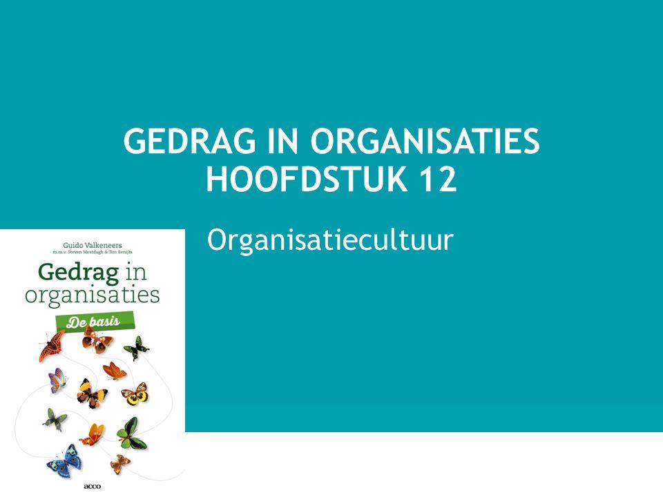 Gedrag in organisaties hoofdstuk 12