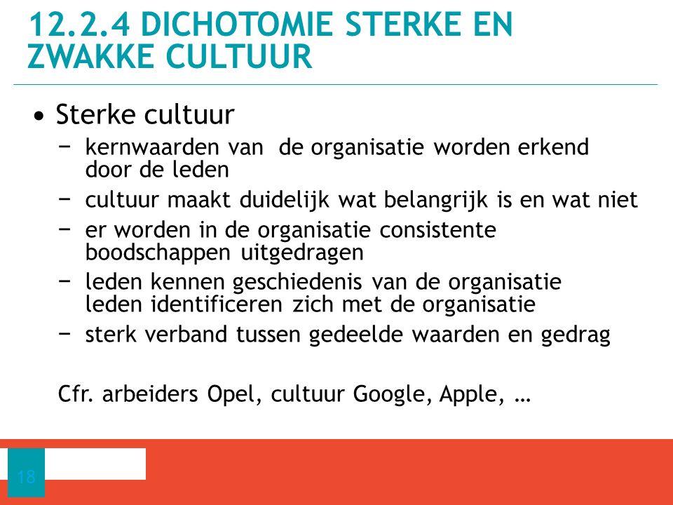 12.2.4 dichotomie sterke en zwakke cultuur