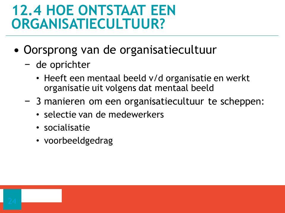 12.4 Hoe ontstaat een organisatiecultuur